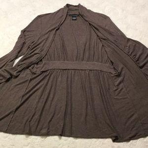 Grace Elements Sweaters - GUC Grace Elements Taupe Ruffle Cardigan, L